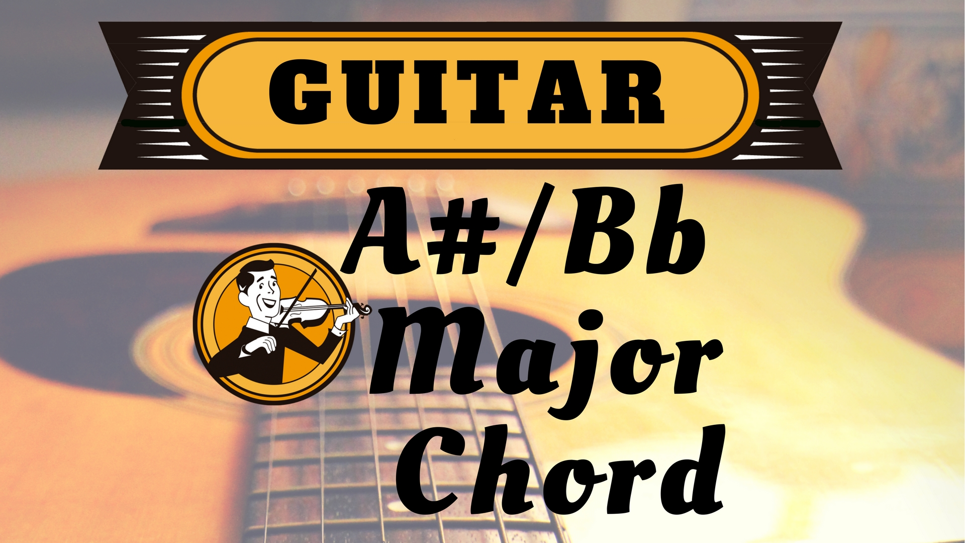 Guitar A sharp Bb Major Chord