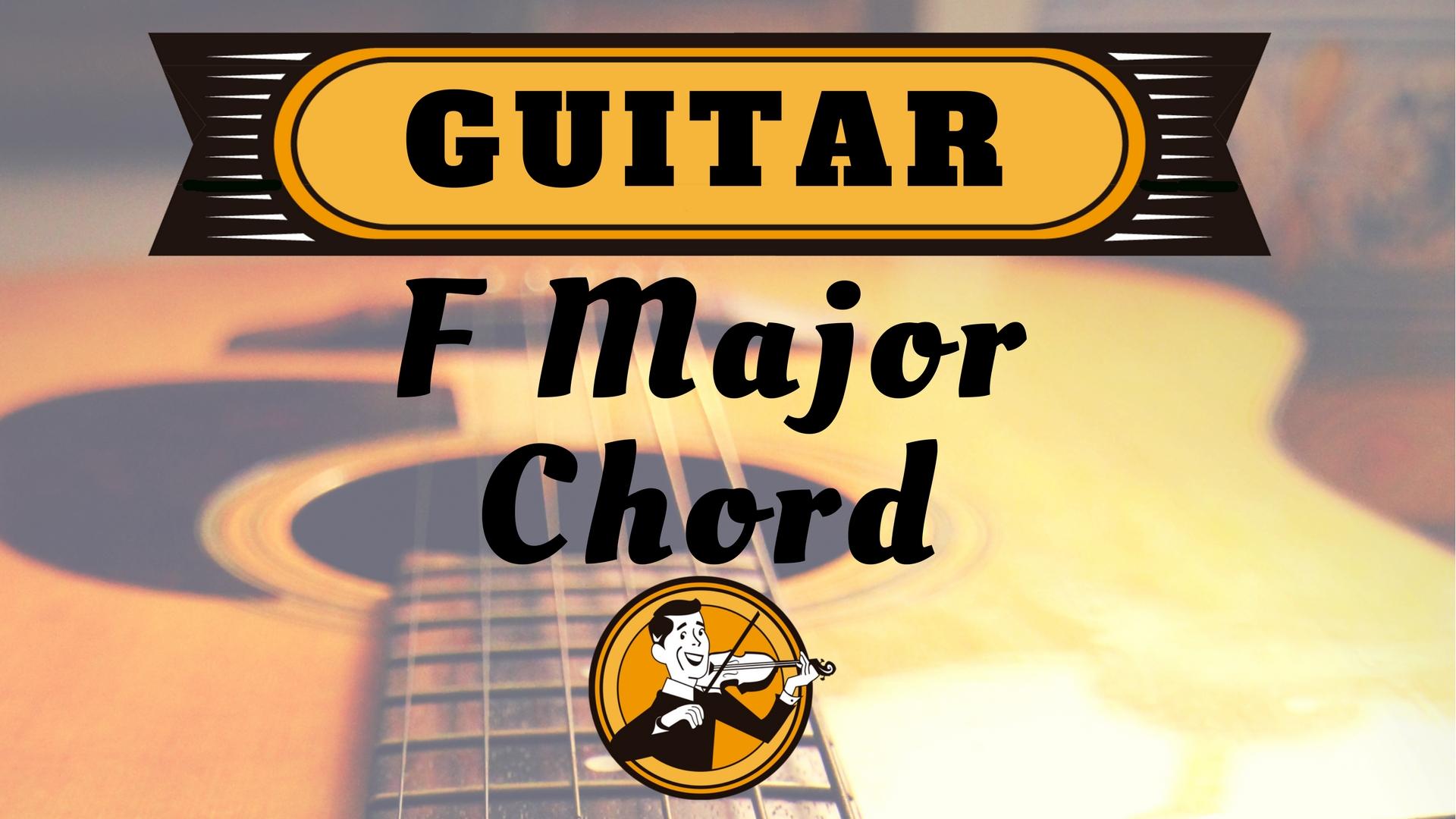 Guitar F Major Chord