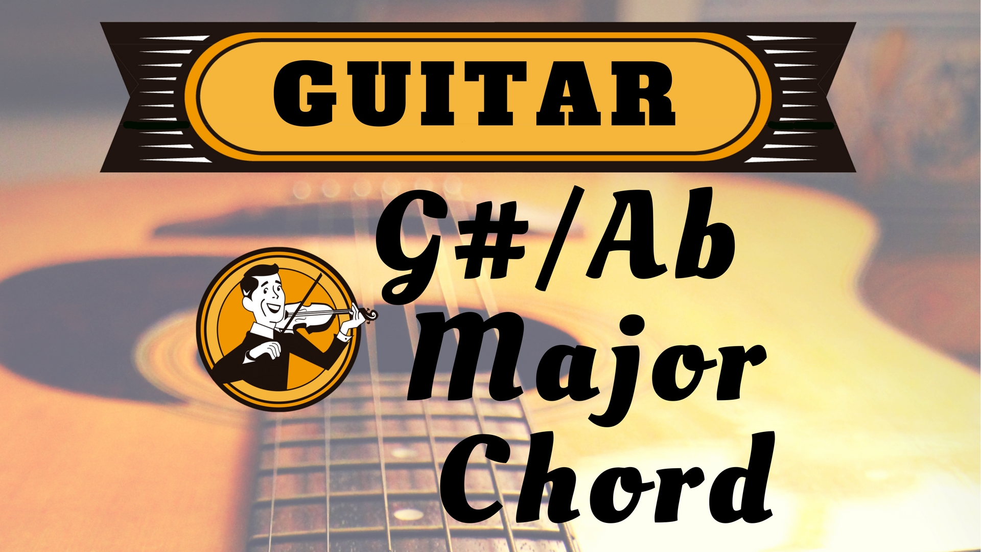 Guitar G sharp Ab Major Chord